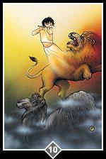 Camel, Lion, Child