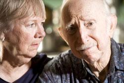 Worried seniors