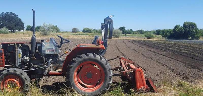 Laguna Farm fields and tractor
