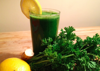 parsley_ lemon_ horseradish juice