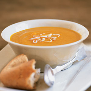 Gingered Sweet Potato Carrot Soup