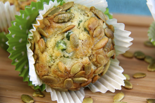 Basil Feta Muffins