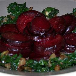 roasted beets with greens