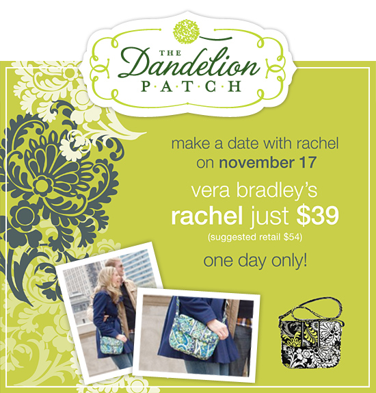Vera Bradley's Rachel just $39! Only November 17th!