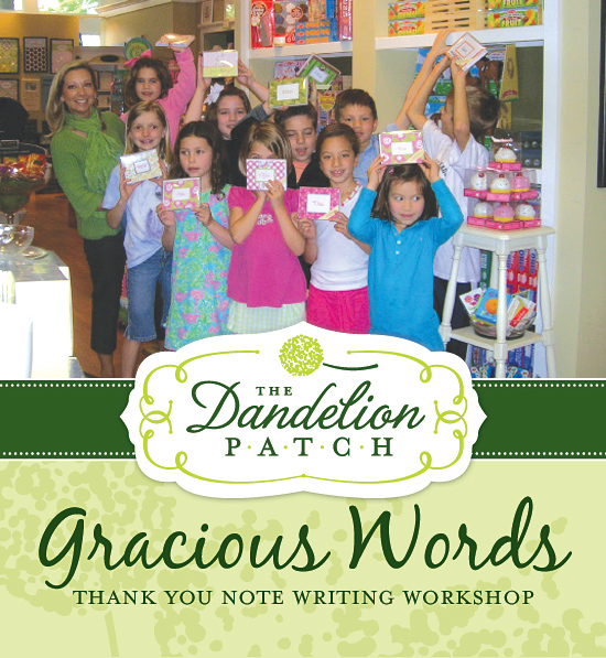 Gracious Words: Thank You Note Writing Workshop