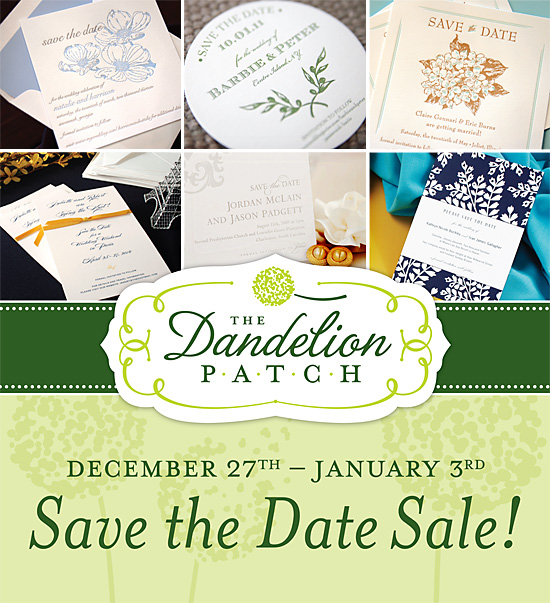 December 27th through January 3rd - Save the Date Sale!