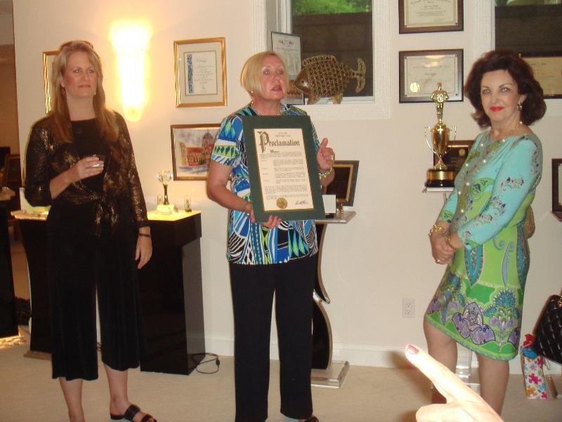 Carol-Ann receiving Proclamation