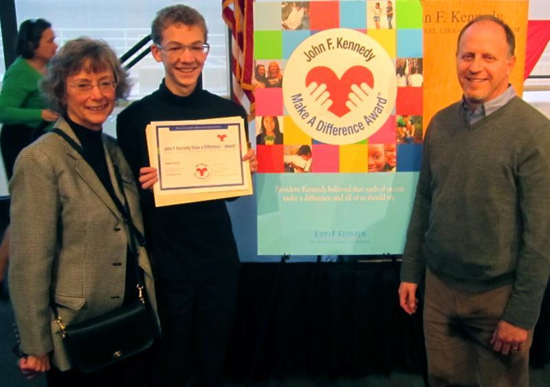 Robert receives JFK volunteer award