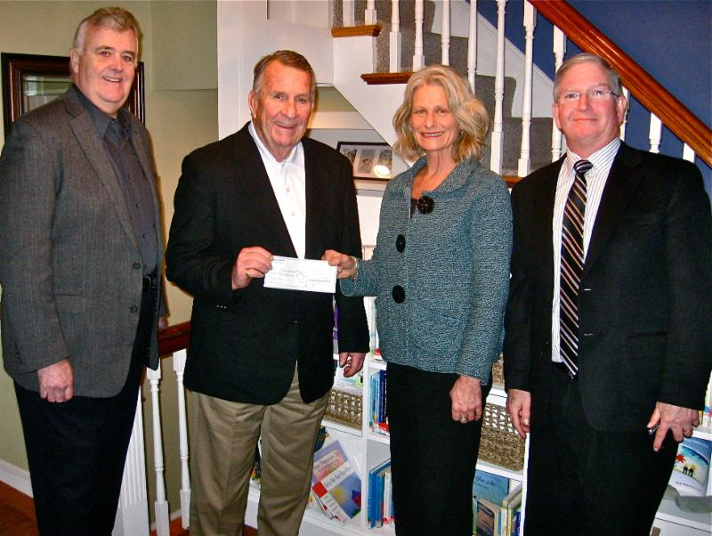 Winning Home trustees present check to TCR