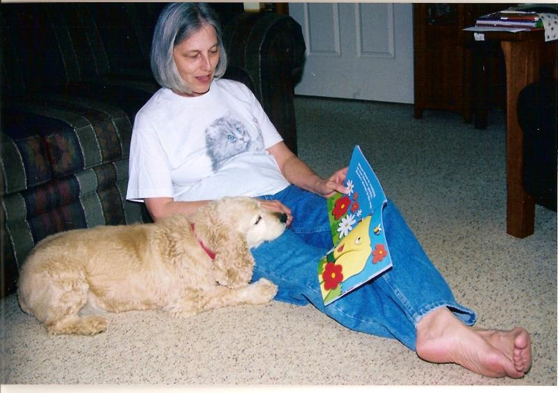 Earlene Arnette reading to BB