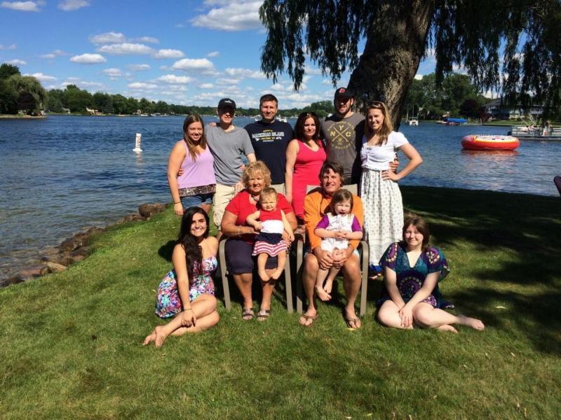 Dave and family at a Michigan lake