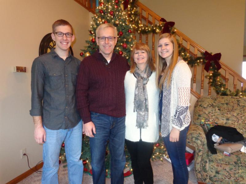 Nick Sadro with Family