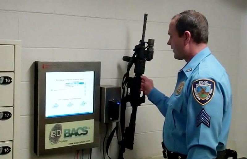 BACS RFID Reader identifies weapon
