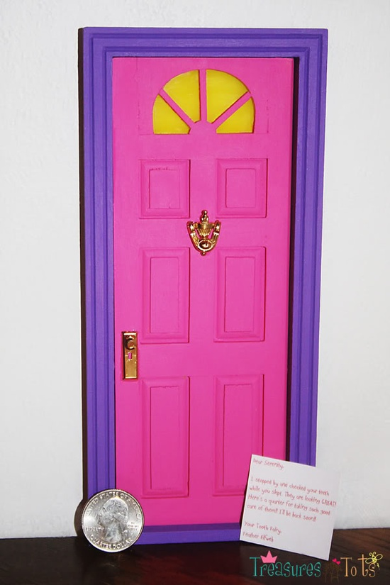 Invite in the fairies for Tooth fairy door ideas