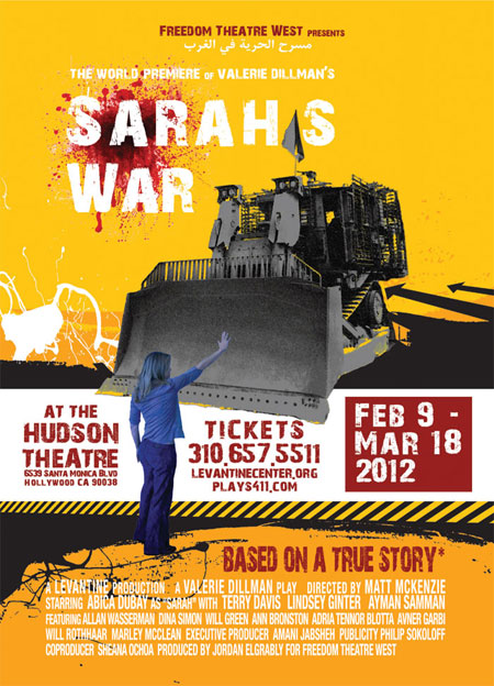 new sarah's war play premieres in february