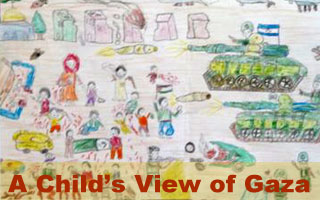 child's view of gaza exhibit through feb. 17