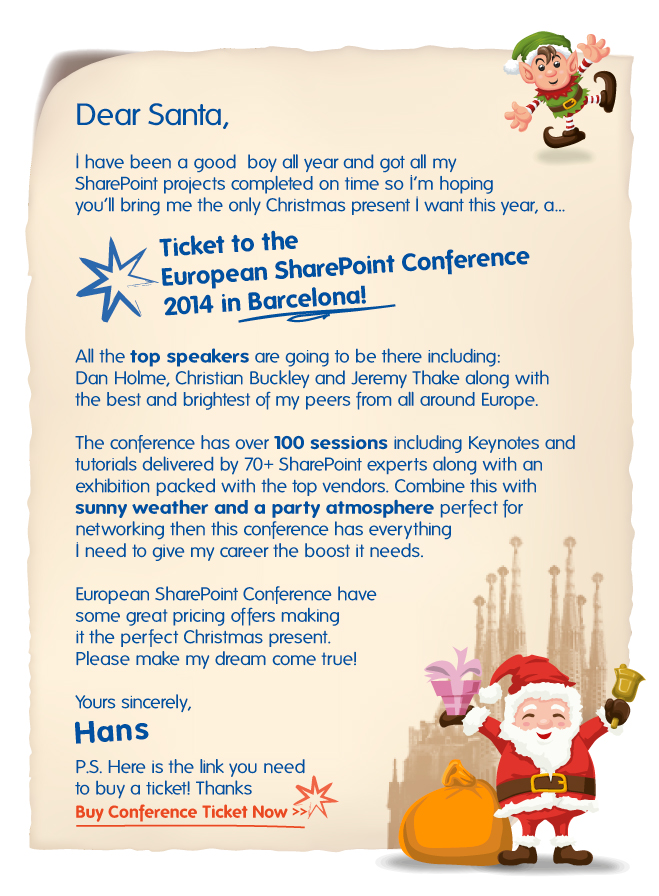 SharePoint Letter to Santa