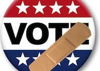 Vote button bandaid
