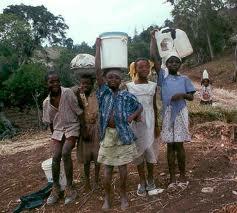 Haiti - children fetching water