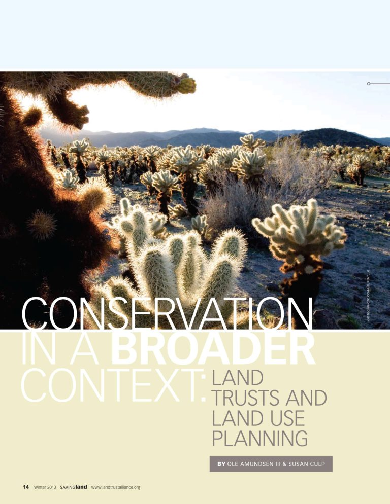 Land Trust Article Cover - Susan Culp 2012