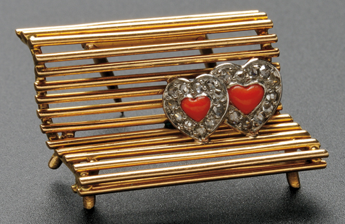 18kt Gold, Coral, and Diamond Figural Brooch, Cartier, Paris