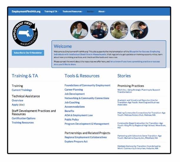 employmentfirstma.org screenshot