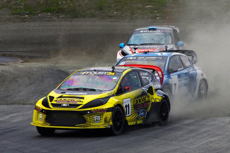 Tanner Foust at Round 4 in the European Rallycross Championship.