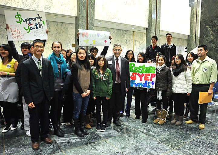 Senator Squadron and 2011 youth advocates from CPC