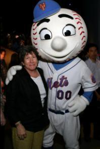Nancy Wackstein and Mr. Met