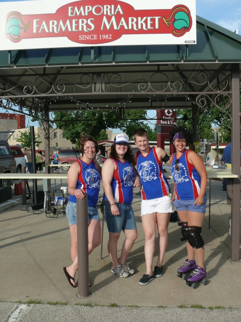 Veteran City Rollers at the Emporia Farmers Market