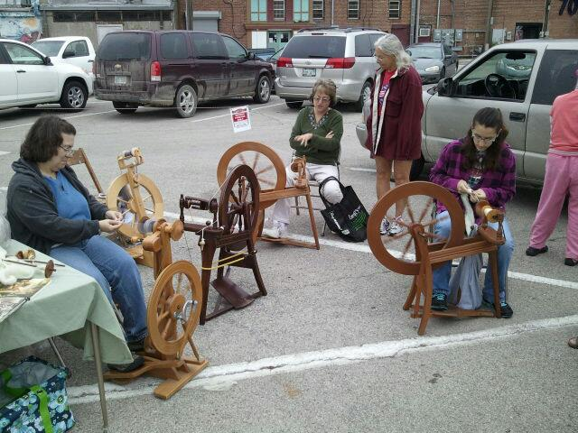 Spinners at the Market in September