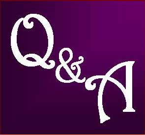 Q and A Logo Purple