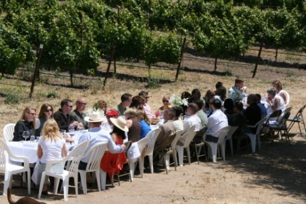 event in the vineyard