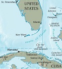 USA/Cuba Map