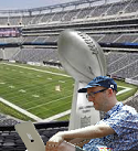 Using Laptop At Superbowl