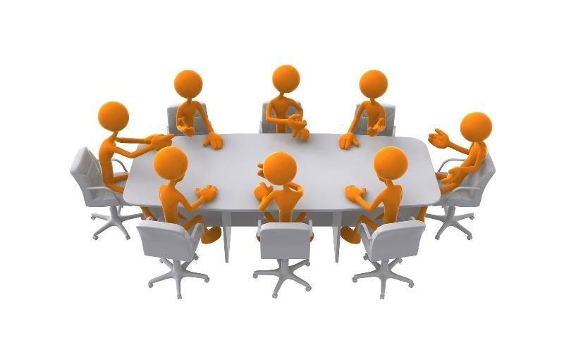 stick figure board meeting