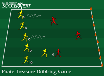 Pirate Treasure Dribbling Game