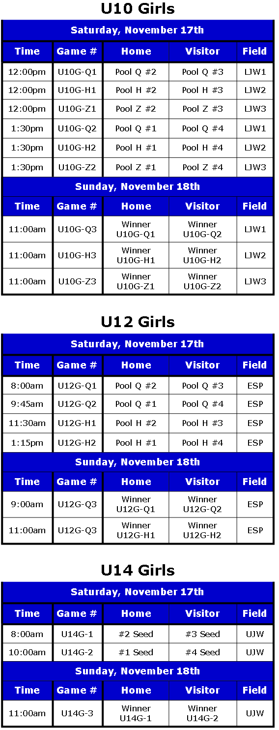 Play-Off Schedule 2012 Rev. 2 Girls