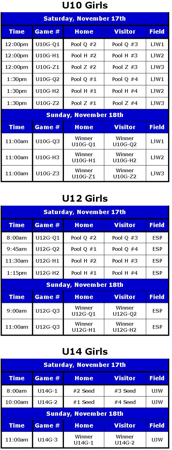 Play-Off Schedule 2012 Rev. 2 Girls