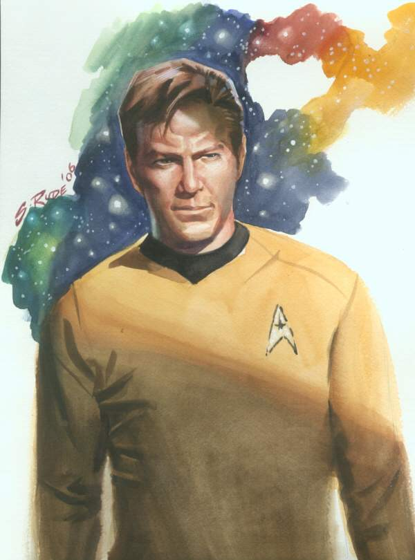 Captain Kirk Watercolor