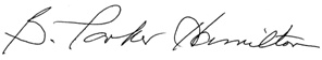 B. Parker Hamilton signature