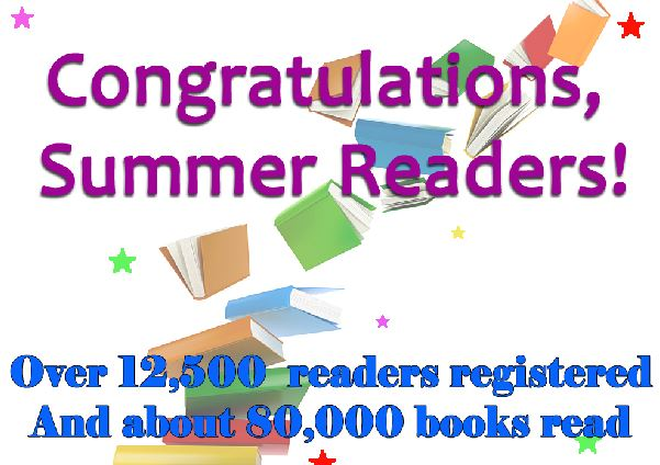 Summer Reading stats