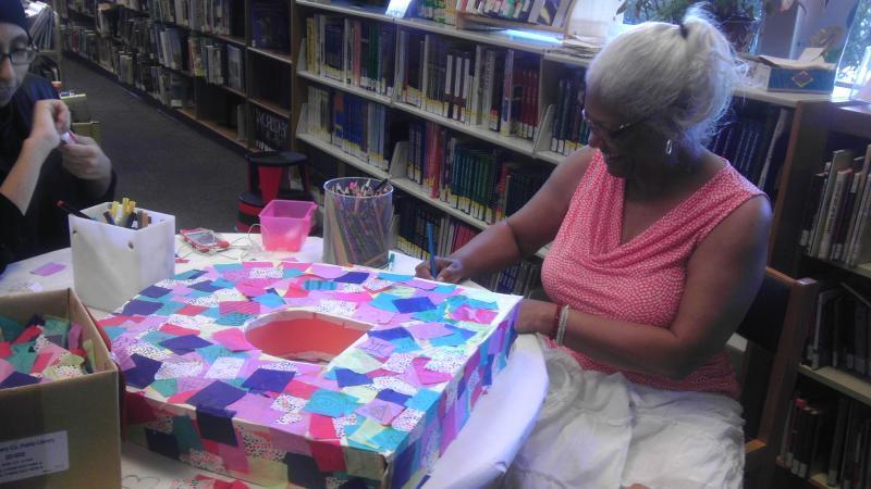 MCPL Director Parker Hamilton at White Oak Library Maker Station