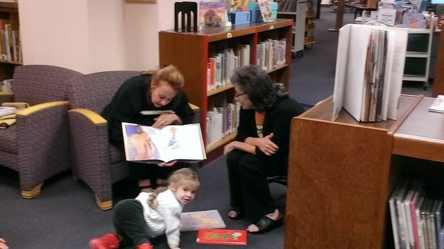 Chair, Jill Lewis, at Kensington Park Library on Snapshot Day
