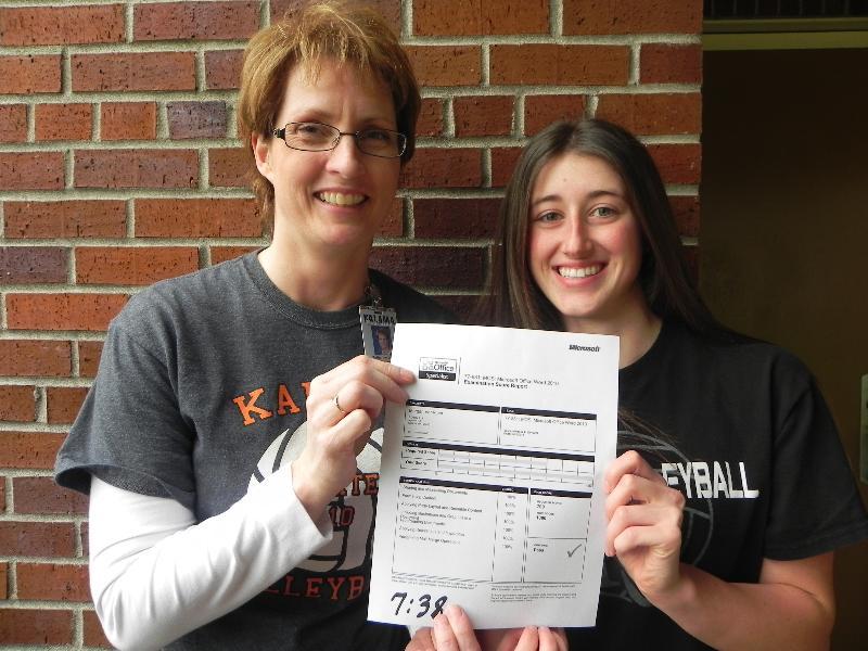 Student passes Mircrosoft test.