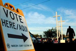 Voting at a church