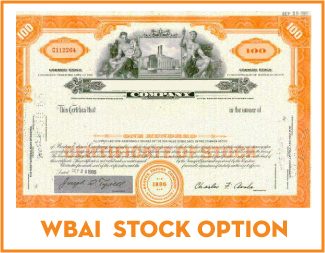 Wbai stock options