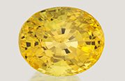 7.52 carat unheated yellow sapphire