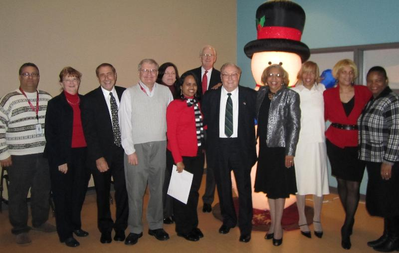 Dr. Lewis and some 2010 Service Award Employees