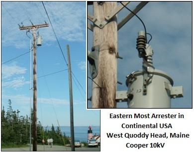 Eastern Most Arrester, Continental USA